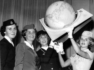 Air France Hostess gets Miss Kilomtre 1960