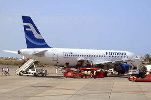 Airbus A320 Finnair at Murcia Pan Airport, Spain