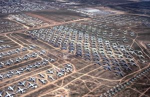 Aircraft Storage at Monthon Davis AFB in desert USA
