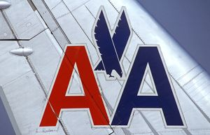 American Airlines logo on tail