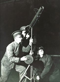 anti-aircraft gunners in England