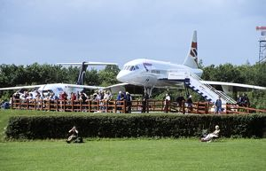 BAe Concorde and last Avro RJ100 now on display at Manchester Airport UK