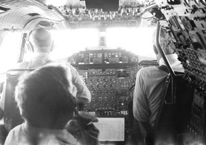 BAe Concorde Cockpit - on timed event from Paris to Boston 1974