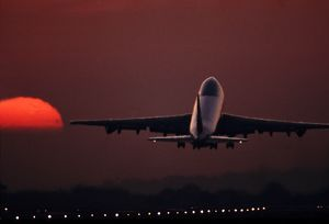 Boeing 747 take-off