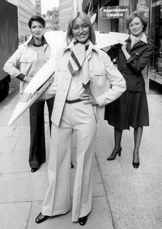 The Concorde look for Stewardesses