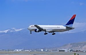 Delta Boeing 767-300 (332) landing at Salt Lake City Airport, Utah, USA