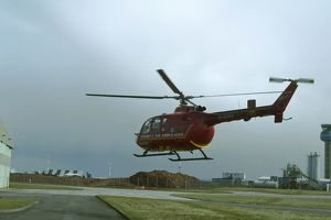 East Midlands Air Ambulance taking-off