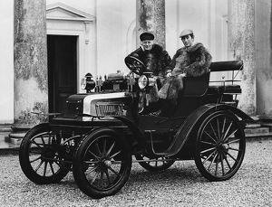 1899 Daimler with Lord Montagu and Prince Charles (1970)