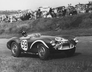 Aston Martin DB3S Graham Hill, Brands Hatch Unlimited Sports Car race 19.5.1957