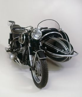 BMW R50 motorcycle with STEIB sidecar 1957