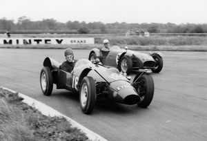 Yimkin driven by Don Sim with Lotus 7 series 1 of Peter Warr. Silverstone 17/9/1960