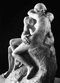 RODIN: THE KISS, 1886. Marble by Auguste Rodin