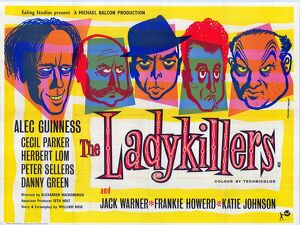 uk quad poster for the ladykillers 1955