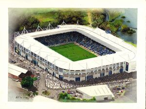 King Power Stadium Art - Leicester City #8651927