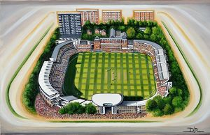 stadia england/lords cricket ground art middlesex county