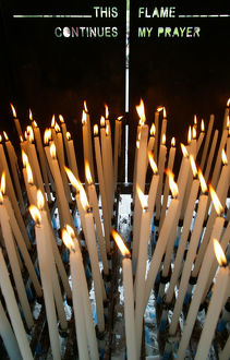 Candles at Lourdes