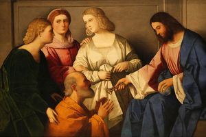 Christ giving the keys to Saint Peter by Vincenzo Catena