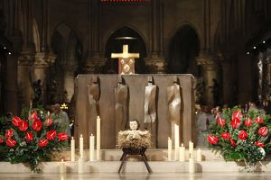 Christmas celebration in Notre Dame cathedral