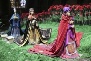 Christmas crib in Notre-Dame of Paris cathedral