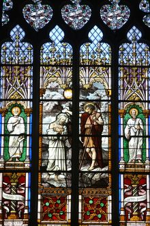 Christ's baptism stained glass