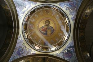 Dome of the Katholikon Greek orthodox church in the Church of the Holy Sepulchre