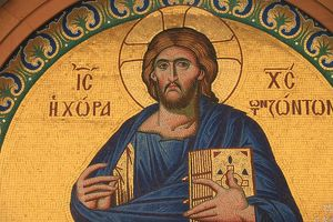 Greek orthodox icon depicting Jesus Christ