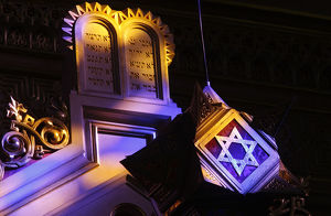 Interior of the Great Synagogue in Budapest (Dohany Street Synagogue)