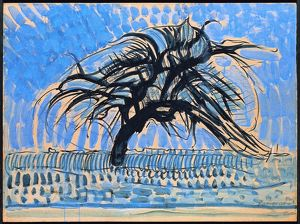 Netherlands, hague, Blue tree, 1909-10