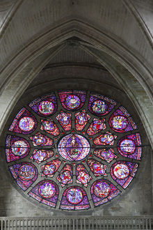 Notre Dame of Mantes la Jolie collegiate church rose window