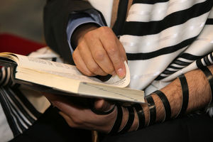 Torah reading in a synagogue