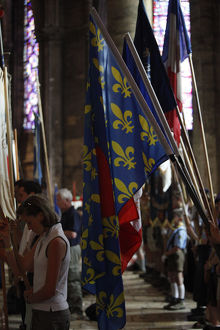 Traditional catholic pilgrimage Mass in Chartres cathedral
